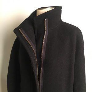J crew Black stadium cloth coat size 4